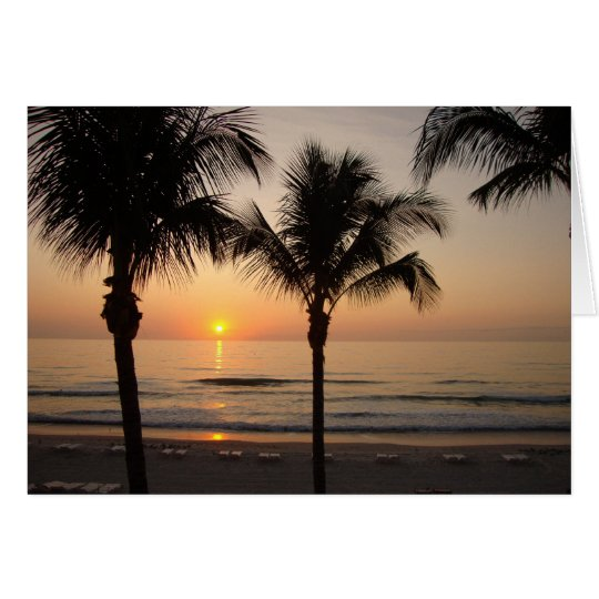 Beach Sunset Ocean Blank Photography Greeting Card