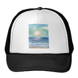 Beach Sunset Ocean Sea Surf Sun Gifts Trucker Hat