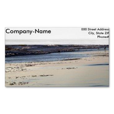 Beach Themed Beach Sunset Ormond Beach Magnetic Business Card