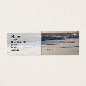 Beach Themed Beach Sunset Ormond Beach Mini Business Card