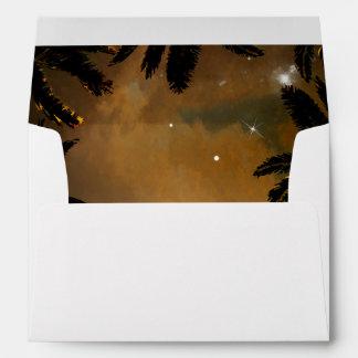 Beach Sunset Palms Romantic Wedding Envelope