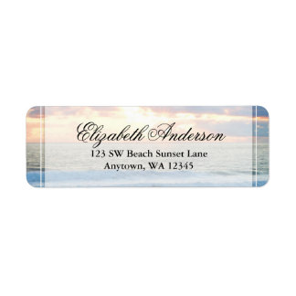 Beach Sunset Personalized Address Label