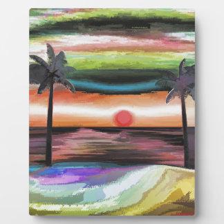 Beach Sunset Photo Plaque