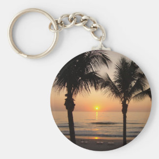 Beach Sunset Photography Nature Key Chain Art Tree