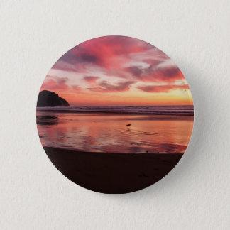 Beach Sunset Pinback Button