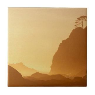 Beach Sunset Point Arches Ceramic Tile