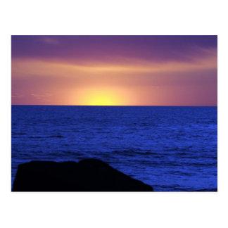 Beach Sunset Postcard