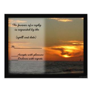beach sunset rsvp card