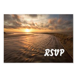 Beach Sunset RSVP: Montara Beach, Pacifica CA 3.5x5 Paper Invitation Card