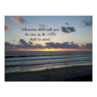 Beach Sunset Salvation Joel 2 Print