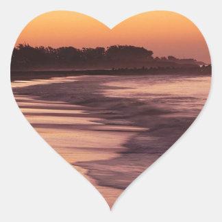 Beach Sunset Seabright Beach Santa Cruz Heart Sticker