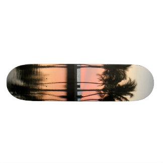 beach sunset skateboard