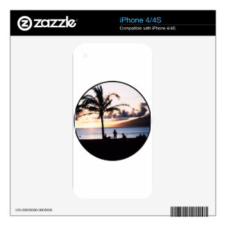 Beach Sunset Decal For iPhone 4