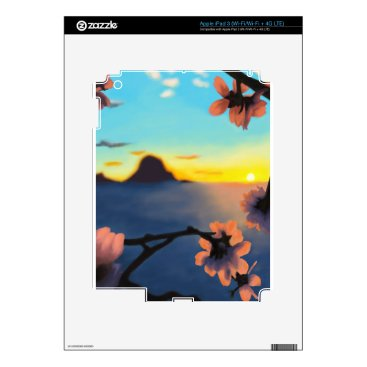 Beach Themed Beach Sunset Skins For iPad 3