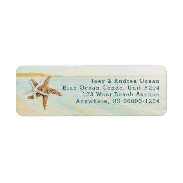 Beach Themed Beach Sunset Starfish Coastal Address Labels