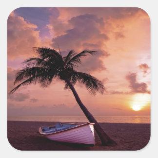 Beach Sunset Stickers