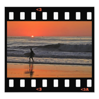 beach- sunset surf art photo