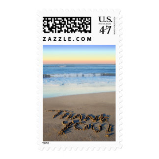 Beach Sunset Thank You Stamps