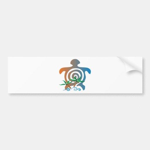 Beach-sunset-turtle Bumper Sticker