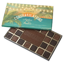 Beach Sunset Wedding - Customize 45 Piece Box Of Chocolates