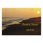 Beach Sunset Wedding RSVP Card Personalized Invitation