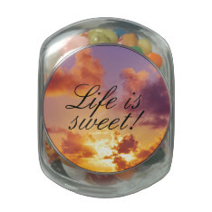 Beach Sunset Wedding Special Jelly Belly Candy Jars at Zazzle