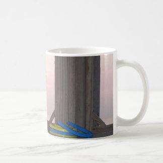 Beach Sunset with Horseshoes Coffee Mugs