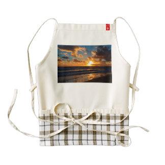 Beach sunset zazzle HEART apron