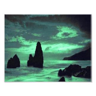 Beach Surf and Stone Photographic Print