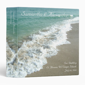 "Beach Surf Destination /Cruise Wedding 1.5"" Binder"