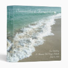 """Beach Surf Destination /Cruise Wedding 1"""" Binder"""