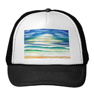 Beach Surf Ocean Waves Beach Decor Sunrise Trucker Hat