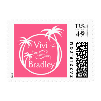 Beach Surf Palm Logo | pink Postage