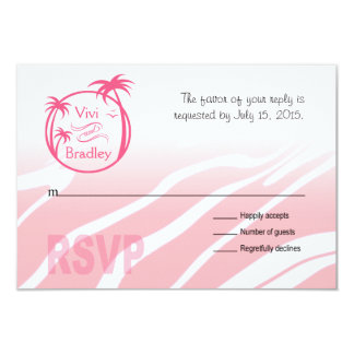 Beach Surf Palm Logo RSVP | pink Card