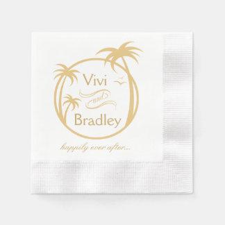 Beach Surf Palm Logo | sand Paper Napkin