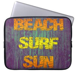 Beach Surf Sun Computer Sleeve