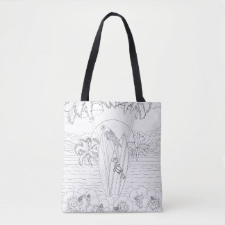 Beach Surfboards Adult Coloring Full Tote