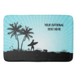 Beach Surfer custom text bath mats