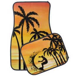 Beach Surfing Hawaiin Scenic Design Car Floor Mat
