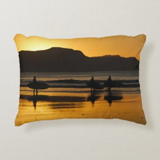 Beach Surfing sunrise pillow New Zealand travel