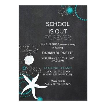 daphne1024 Beach Surprise Retirement Party for Teacher Card