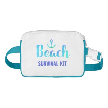 Beach Themed Beach Survival Kit Anchor Watercolor Fanny Pack