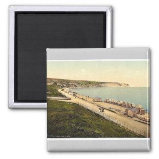 Beach, Swanage, England rare Photochrom Magnet