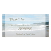 Beach Sympathy Thank You Memorial Photo Card