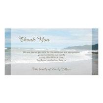 Beach Sympathy Thank You Memorial Photo Card