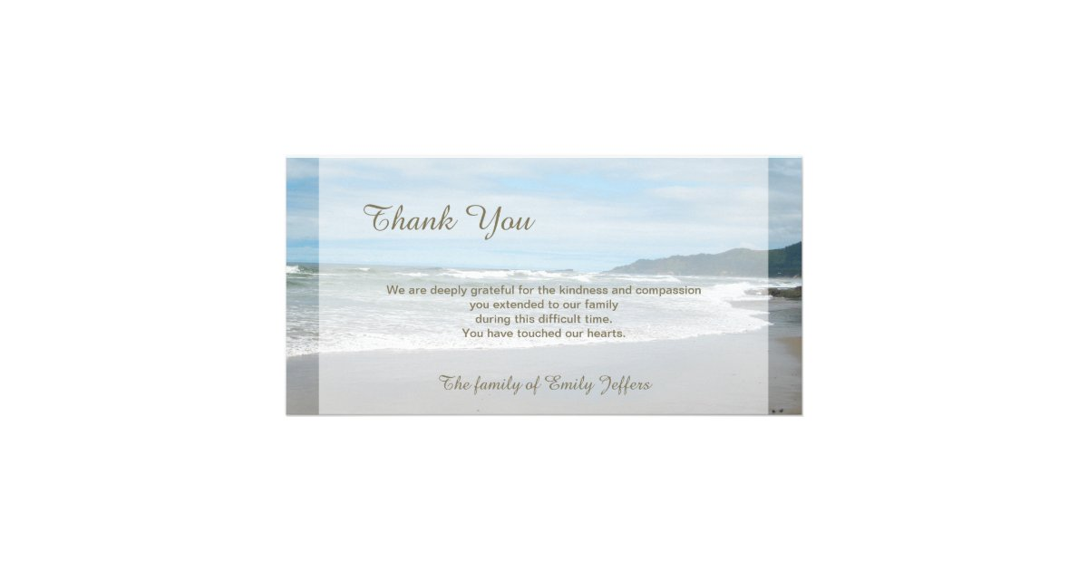 Sympathy Thank You Cards  Zazzle