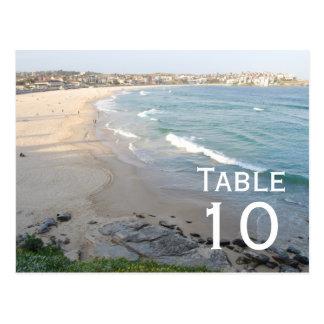 Beach Table Number Postcard