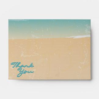 Beach, Thank You, A6 Envelopes