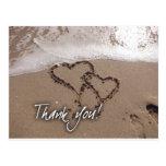 Beach thank you card postcard