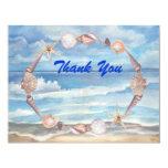 Beach Thank You Custom Announcements